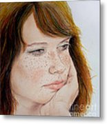 Red Hair And Freckled IIi Metal Print