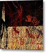 Red Hands Metal Print