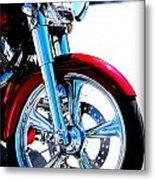 Red Harley Davidson  Metal Print