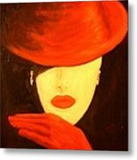 Red Hat  Metal Print