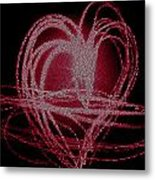 Red Heart Metal Print by Aya Murrells