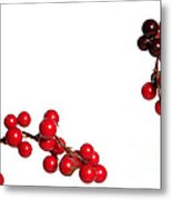 Red Holly Metal Print