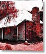 Red Homestead Garden Metal Print