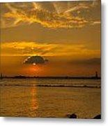 Red Hook Sunset 3 Metal Print