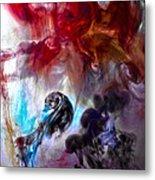 Red Horseman Metal Print by Petros Yiannakas