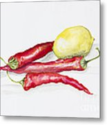 Red Hot Chili Peppers And Lemone Metal Print