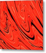 Red Hot Lava Flowing Down Metal Print
