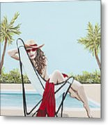 Red Hot Metal Print
