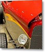 Street Car - Red Hot Rod Metal Print