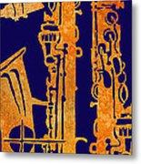 Red Hot Sax Keys Metal Print