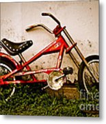 Red Hot Stingray Bike Metal Print by Sonja Quintero