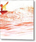 Red Hot Surfer Metal Print