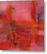 Red Hot Watercolor Metal Print