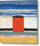 Red House, 1932 Oil On Canvas Metal Print