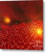 Red Ice Mountain Metal Print