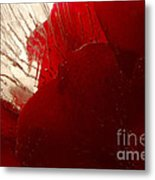Red Ice Metal Print