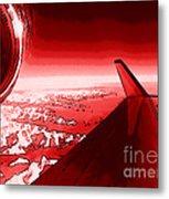 Red Jet Pop Art Plane Metal Print