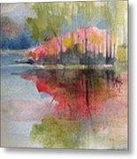 Red Lake Reflection #2 Metal Print