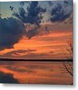 Red Lake Sky Metal Print