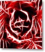 Red Lettuce Metal Print