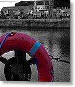 Red Lifebelt At Albert Dock 2 Metal Print