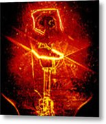 Red Light Abstract Metal Print