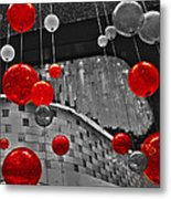 Red Lights In Vegas Metal Print