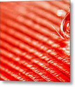 Red Lined Metal Print