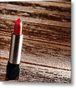 Red Lipstick Metal Print