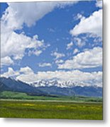 Red Lodge Spring Scene 1 Metal Print
