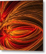 Red Luminescence-fractal Art Metal Print