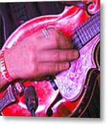 Red Mandolin Metal Print