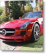 Red Mercedes Benz Metal Print