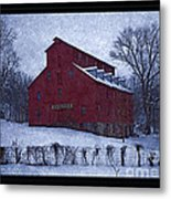Red Mill Antique Barn Metal Print