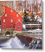 Red Mill Clinton New Jersey Metal Print