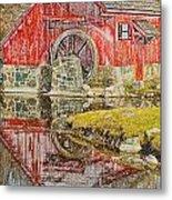 Red Mill II Metal Print