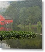 Red Mill Misty Morning Metal Print