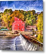 Red Mill Painted Metal Print