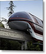 Red Monorail Disneyland 02 Metal Print