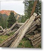 Red Mountain Ruins Metal Print