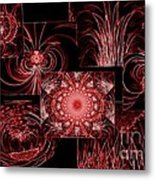 Red Neon Collage Metal Print