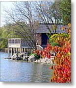 Red October On The Lake Metal Print