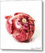 Red Onion Metal Print