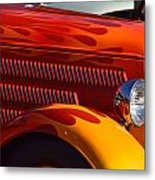 Red Orange And Yellow Hotrod Metal Print