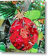 Red Ornament Metal Print
