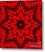 Red Patchwork Art Metal Print by Barbara Griffin