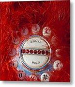 Red Phone For Emergencies Metal Print