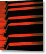 Red Piano Metal Print