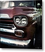 Red Pickup Metal Print