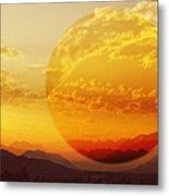 Red Planet Sunset Metal Print
